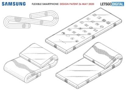 向内 + 向外折叠!三星申请新型可折叠手机专利
