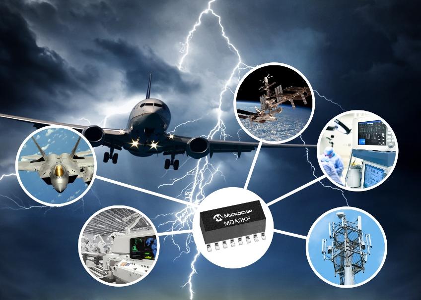 Microchip推出3kW瞬态电压抑制二极管阵列产品,实现严苛环境下出色的电路保护
