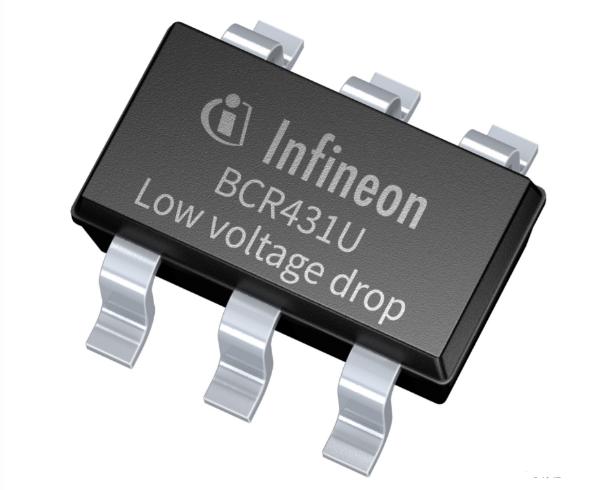 英飞凌推出BCR431U LED驱动IC 为低电流LED灯条设计带来更多自由度