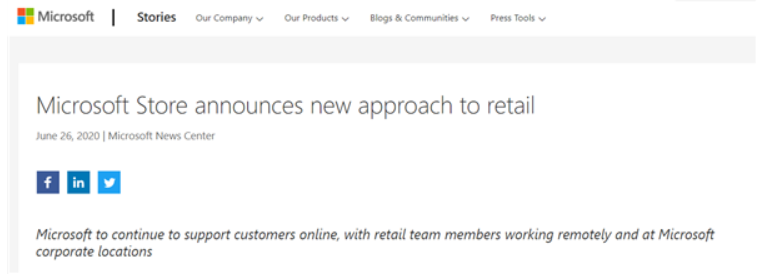 微软宣布将永久关闭所有零售店:仅保留个别作为体验中心