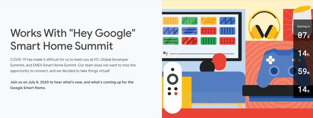 谷歌將于7月8日舉辦智能家居開發者活動