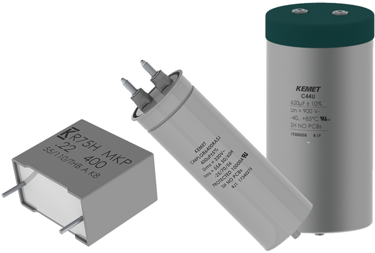 凯美特推出了三个新系列的薄膜电容器,用于快速发展的绿色能源和汽车应用