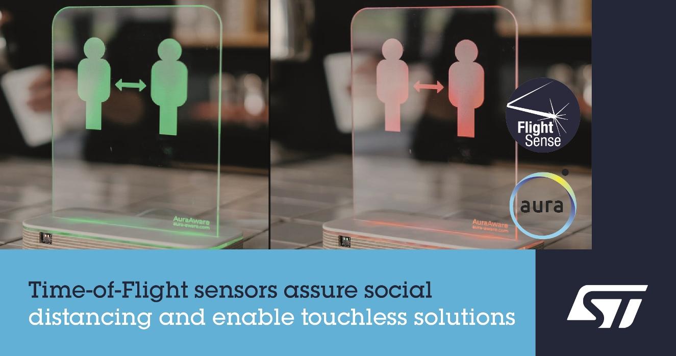 意法半导体FlightSense™飞行时间接近及检测传感器 助力社交距离感知应用创新