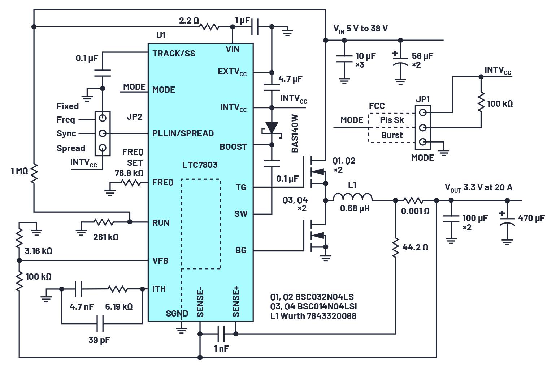 LTC7803 或先进电源便捷设计之路