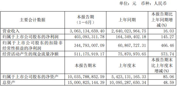 华润微上半年净利润同比增长达145%