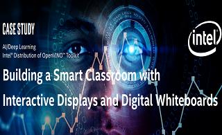 用交互式显示屏和数字白板构建智能教室