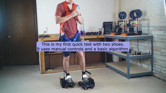 国外大神玩家制作VR鞋 3D打印支持全向移动