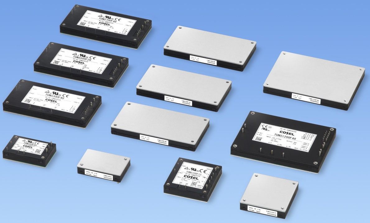 COSEL發布用于工業和醫療的1.2kW功率密度高、外形薄、板載AC/DC電源模塊