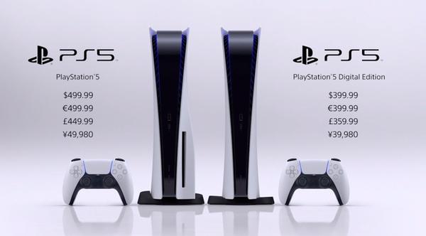 索尼PS5价格发售日期公布:399美元起11月12日开售