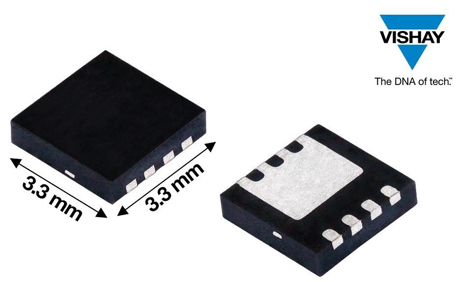 TrenchFET器件典型RDS(ON)为 61 mΩ,优值系数为 854 mΩ*nC,封装面积10.89 mm2