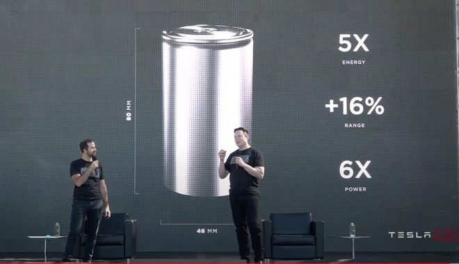 特斯拉发新款电池!续航里程提高16% 价格降14%