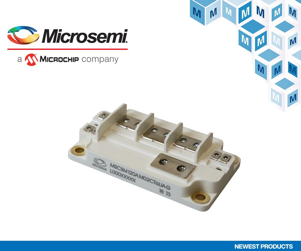 貿澤開售Microchip AgileSwitch相臂功率模塊