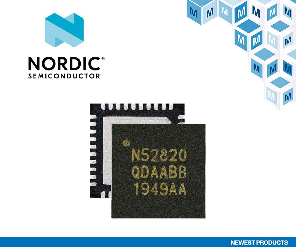 贸泽开售结合蓝牙5.2与USB 2.0的 Nordic Semiconductor nRF52820多协议SoC