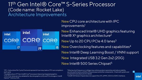 罕见!Intel提前公布11代桌面酷睿架构:除了14nm全变了