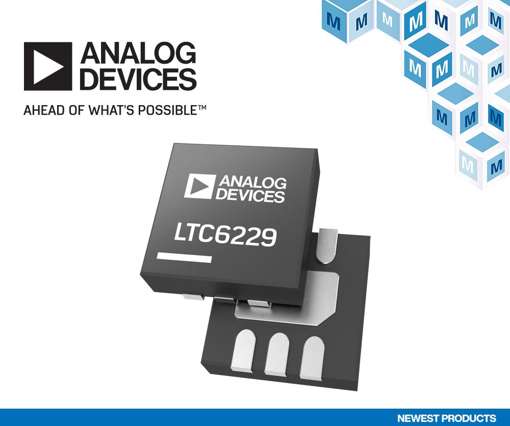 贸泽开售Analog Devices LTC6228和LTC6229运算放大器