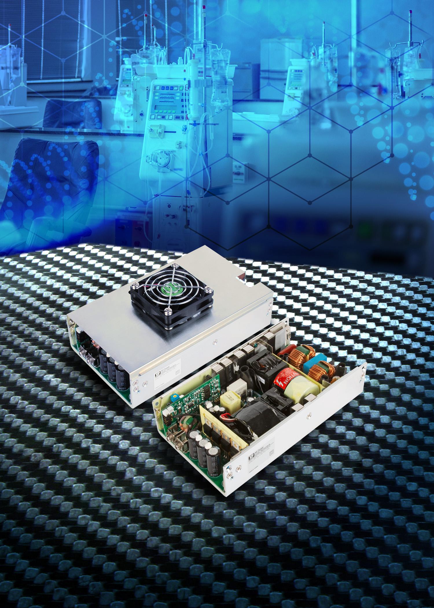 XP Power推出新款500W符合class II应用的电源,适用于医疗设备,包括BF应用
