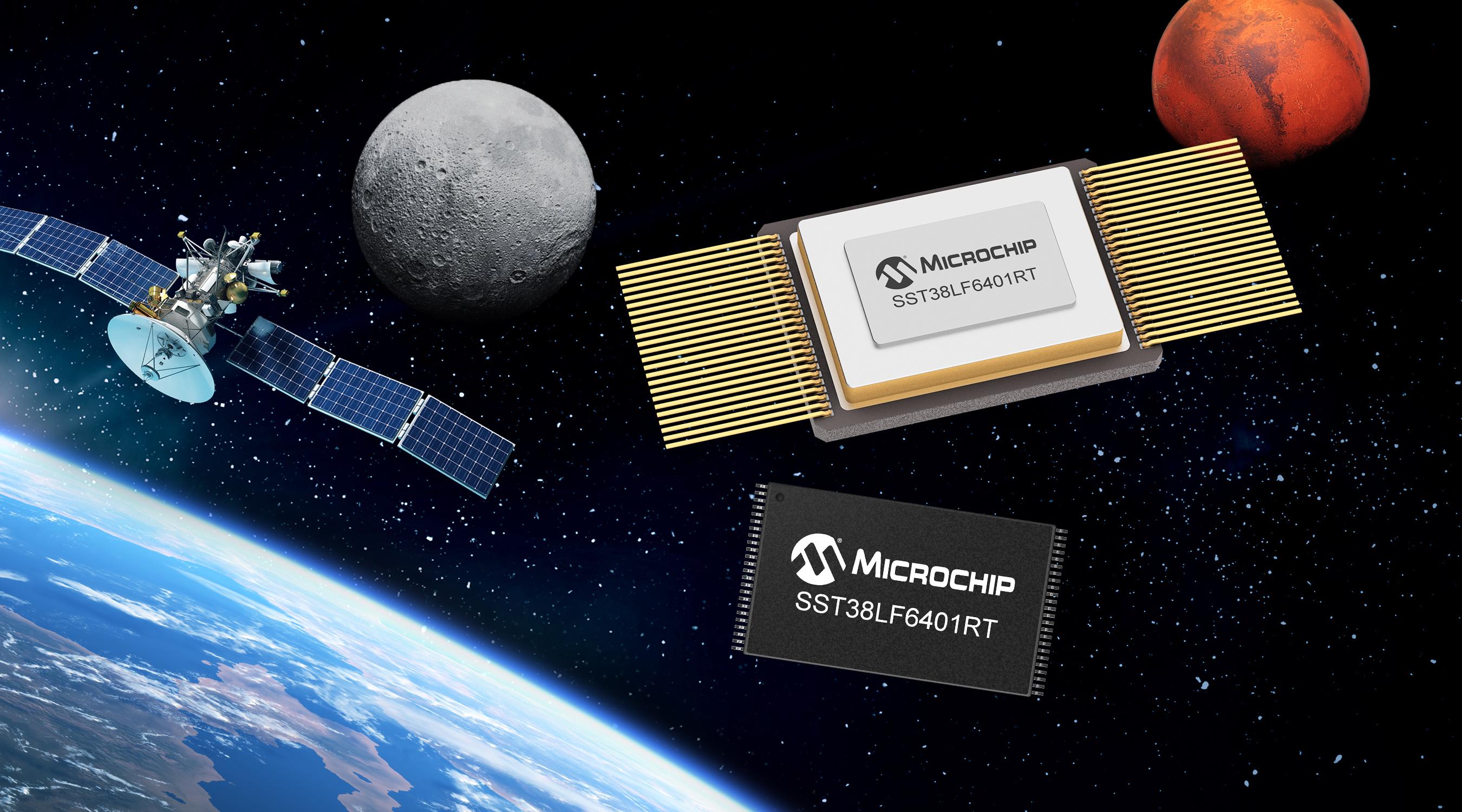 Microchip推出 64 Mb并行SuperFlash闪存,丰富旗下应用于航天系统的COTS耐辐射产品阵容