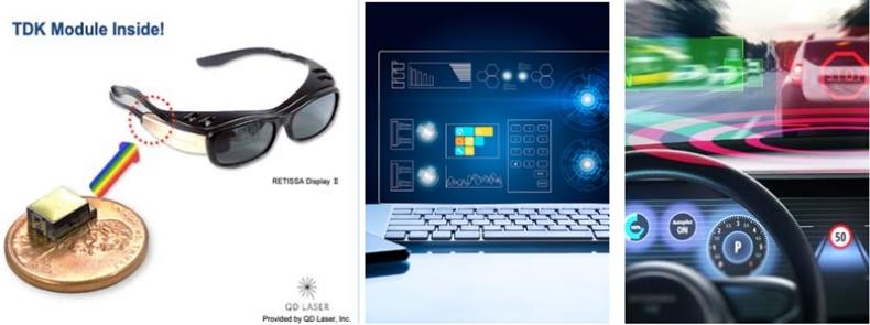 TDK推出超小型全彩激光模块:体积缩小10倍,可用于AR眼镜和微型投影仪