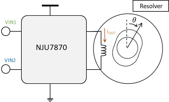 本无线和多摩川精机共同研发的 用于车载旋转变压器的励磁放大器NJU7870 已开始提供样片