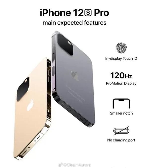 再次引领变革?iPhone 12s Pro渲染图曝光:充电接口被干掉了