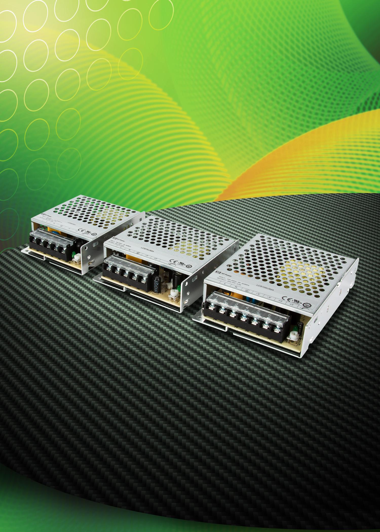 XP Power新款价格优惠的封闭型AC-DC电源,额定功率为35W至100W
