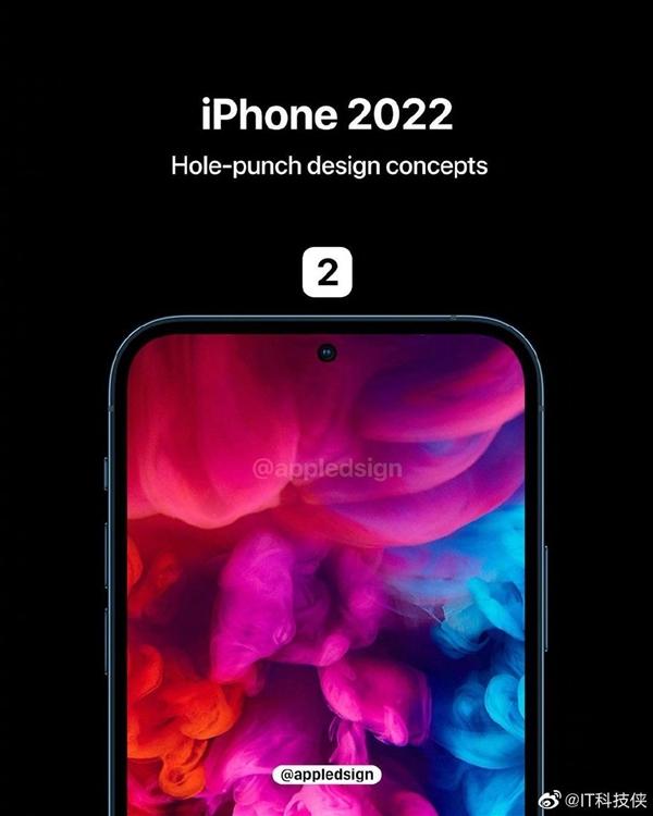 iPhone 13渲染图曝光:首次采用居中打孔屏