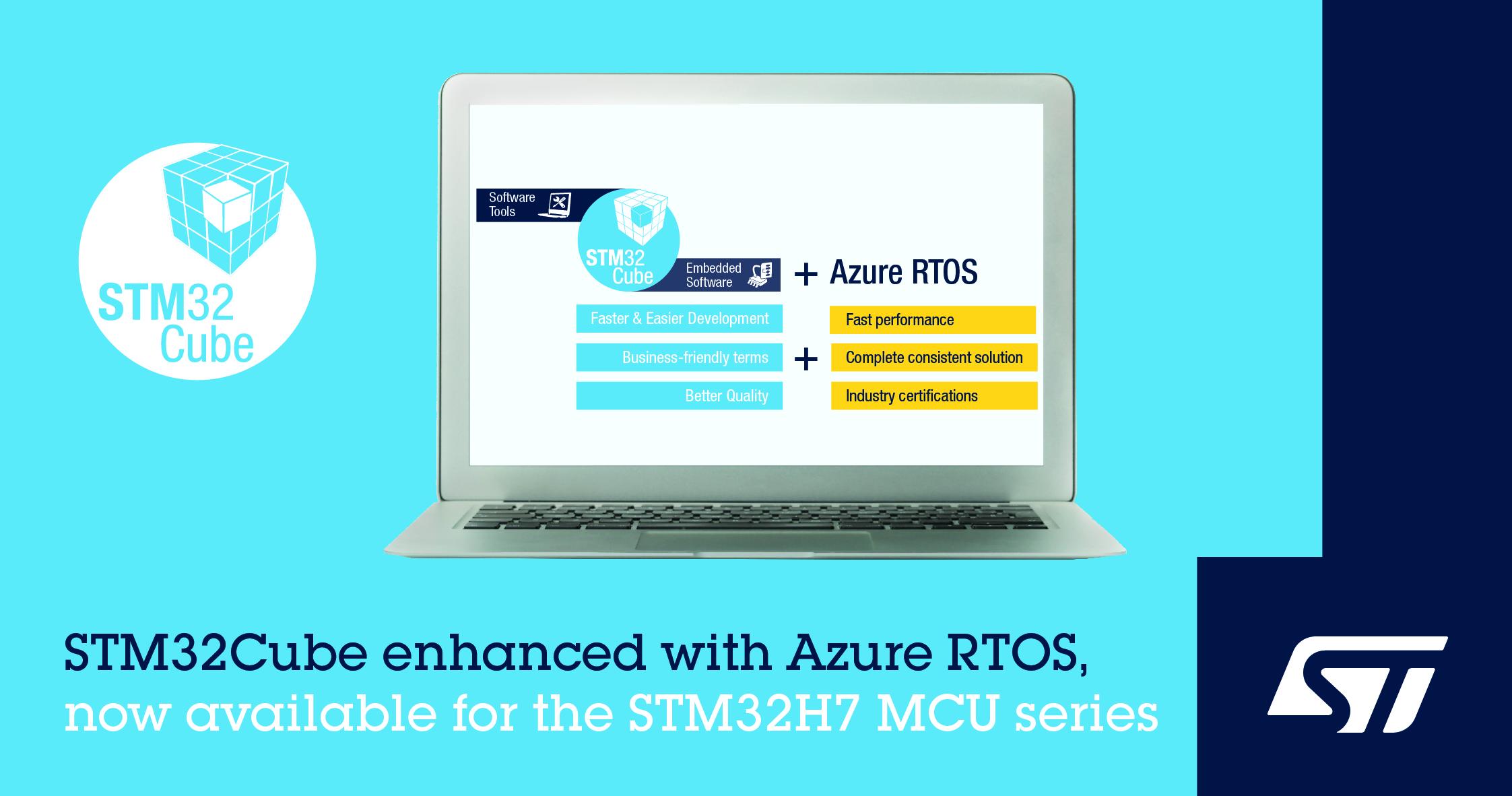 意法半导体发布新软件包支持在STM32 MCU上开发Microsoft Azure RTOS项目,加快智能产品研发周期