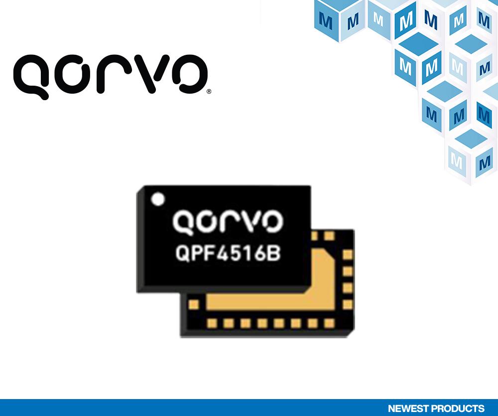 贸泽电子开售Qorvo QPF4516B Wi-Fi 6前端模块