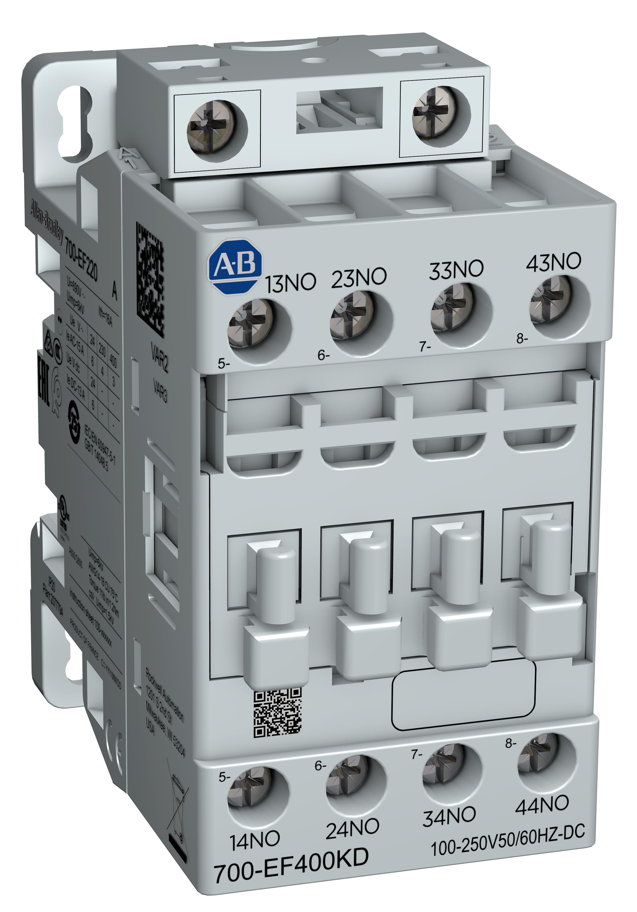 罗克韦尔自动化全新 Allen-Bradley IEC 工业继电器可节约能耗并简化选型