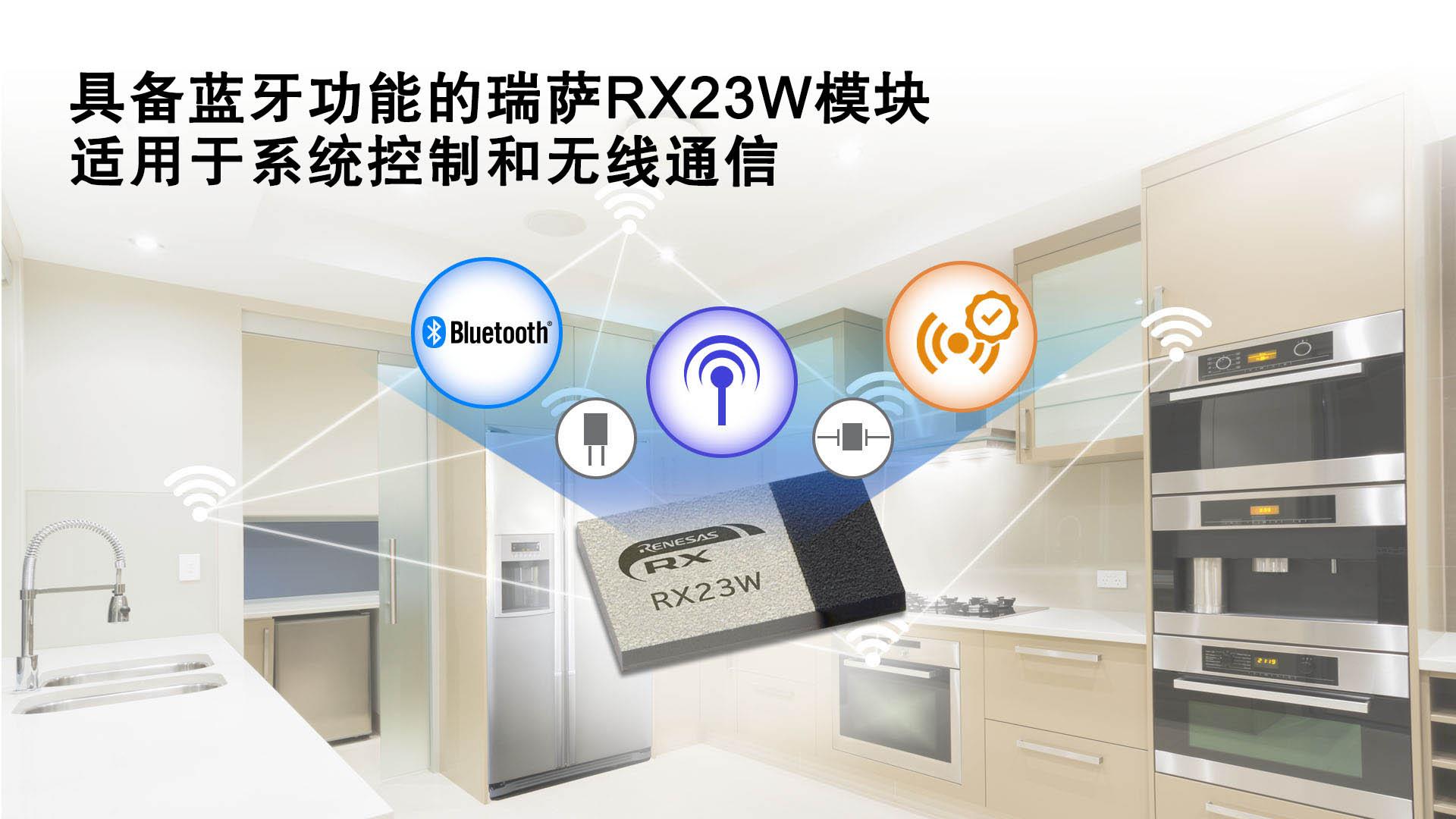 瑞薩電子推出具備藍牙功能的RX23W模塊適用于物聯網設備的系統控制與無線通信