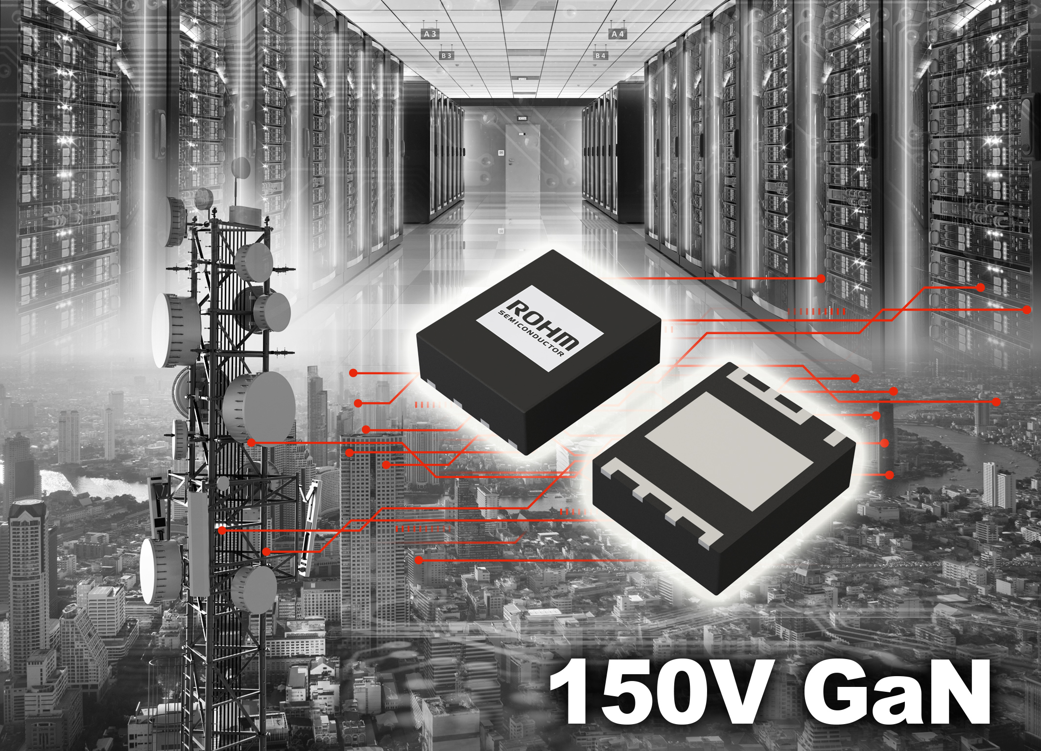 ROHM開發出針對150V GaN HEMT的8V柵極耐壓技術