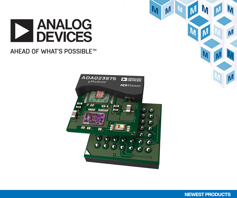 貿澤備貨Analog Devices ADAQ23875 16位15 MSPS μModule數據采集解決方案