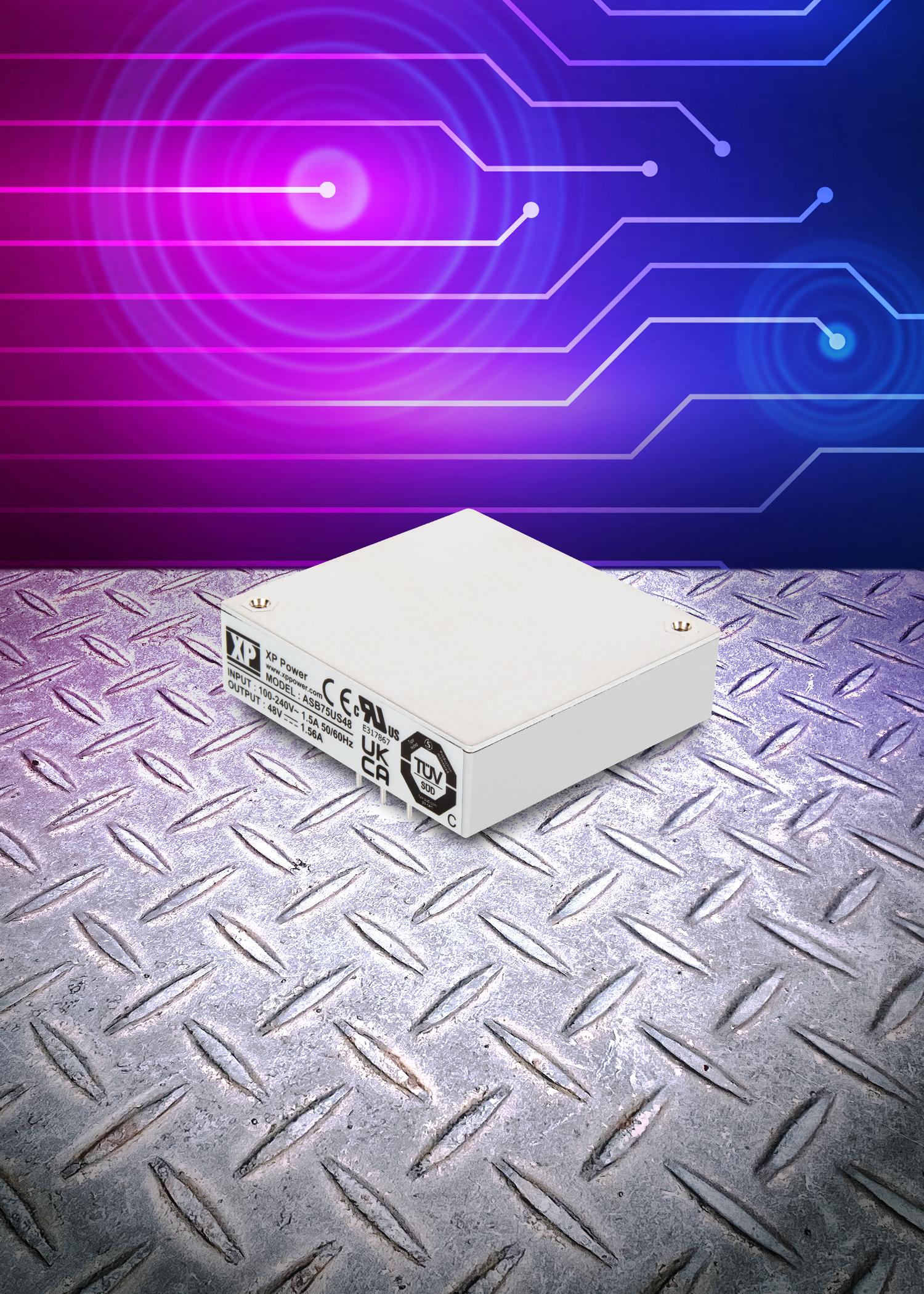 超紧凑传导冷却型75W AC-DC电源模块,适用于具有挑战性和空间关键性的应用
