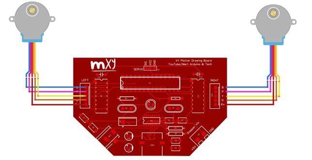 基于使用Atmega328P和ULN2003步进驱动器制造绘图仪机器人