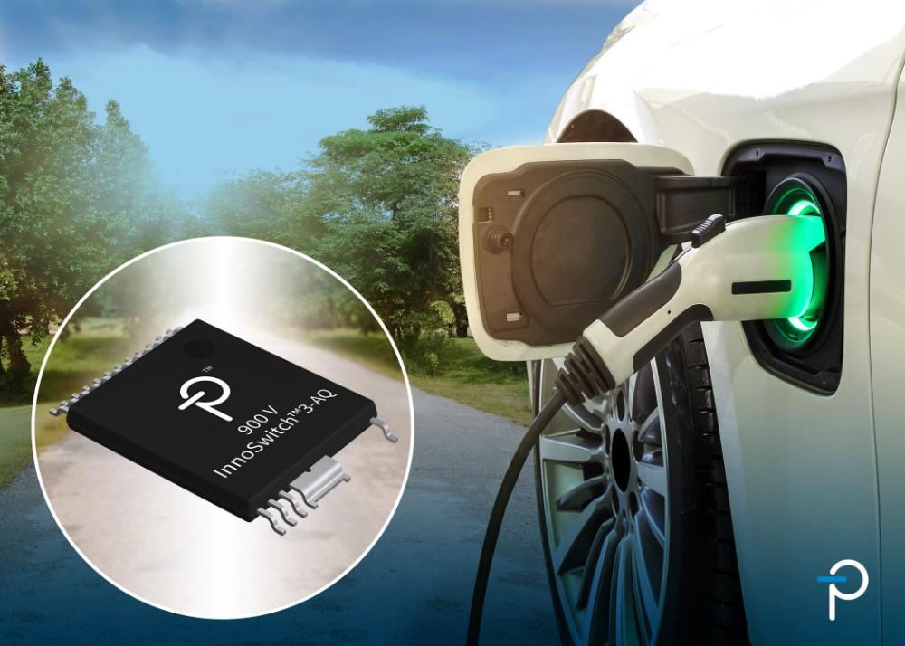 Power Integrations推出新款AEC-Q100级900V InnoSwitch3-AQ反激式开关IC
