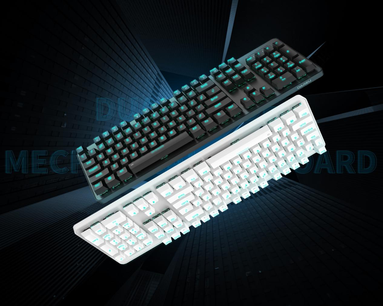 達爾優EK810有線+2.4G雙模機械鍵盤滿載登錄