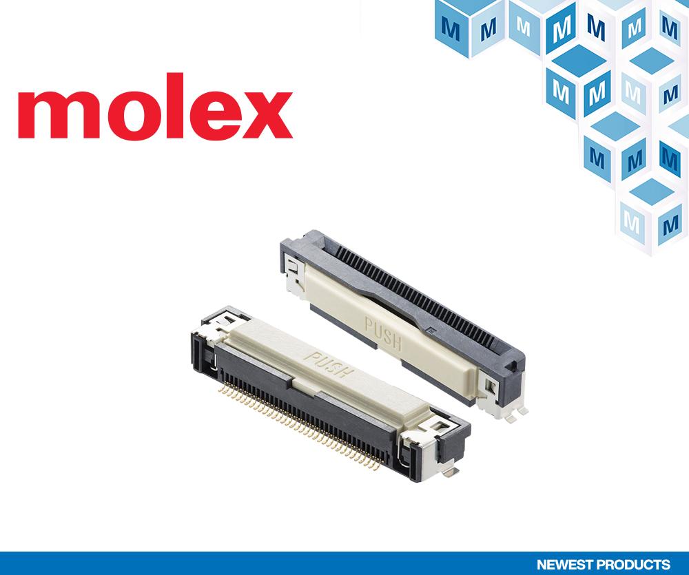 貿澤電子開售用于汽車信息娛樂系統等用途的Molex Easy-On FFC/FPC One-Touch連接器