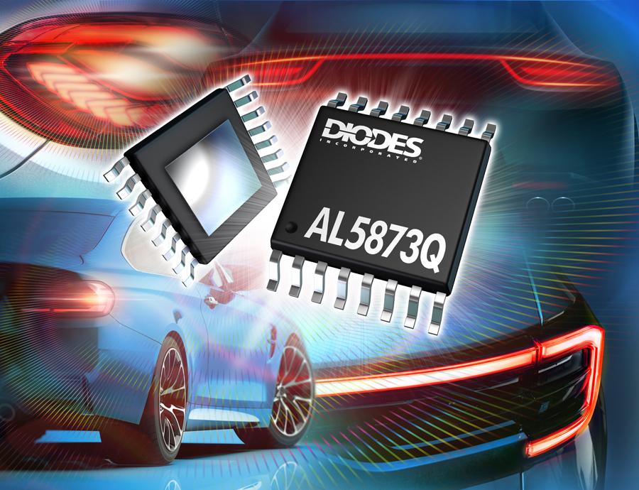 Diodes Incorporated 推出符合汽车规格的 LED 驱动器,可简化尾灯的设计作业