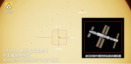 天文爱好者实拍中国空间站和太阳同框 荣耀MagicBook成功助力