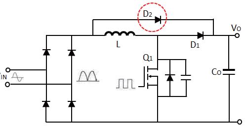 功率因素校正电路旁路二极管的作用