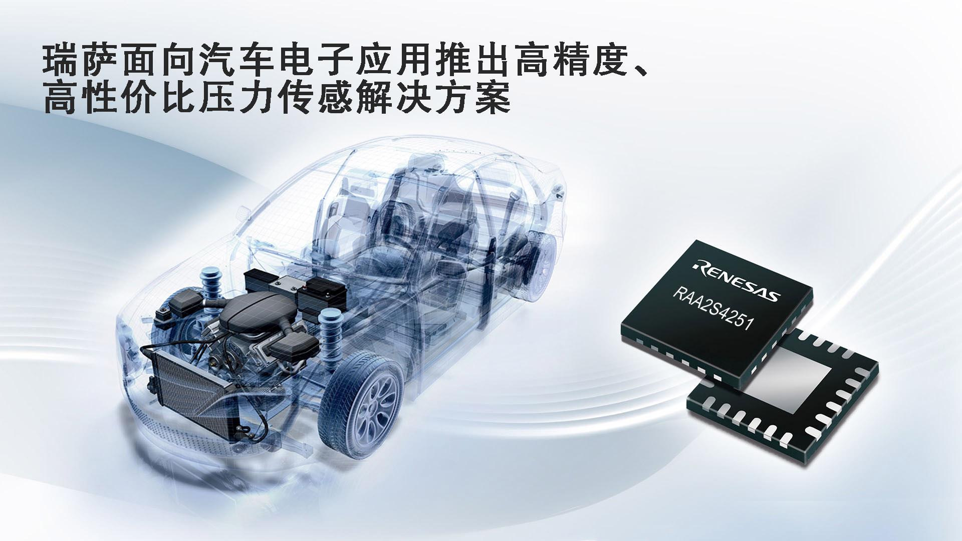 瑞萨电子面向汽车电子应用推出高精度、高性价比压力传感解决方案