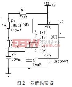 产生1 kHz 时钟信号的电路图