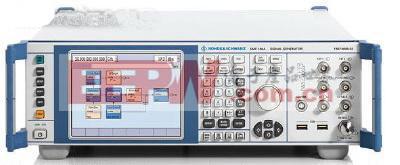 RS SMF100A微波信号发生器可调谐至22GHz,具有一个非常简单的前面板显示屏