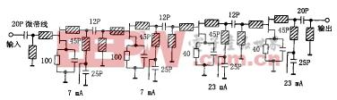 图3 低噪声放大器的电原理图