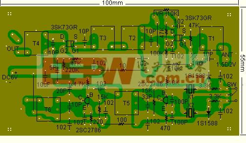 晶体变换器的印刷电路基板的制作与调整