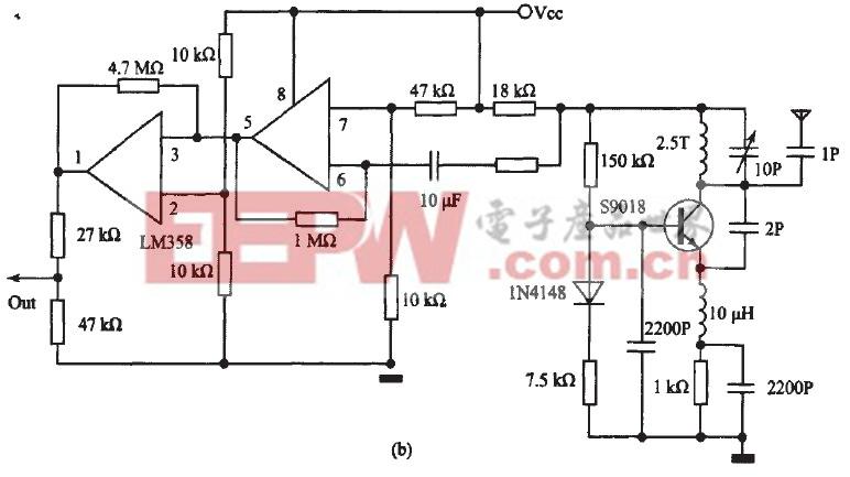 图2接收部分电路原理图