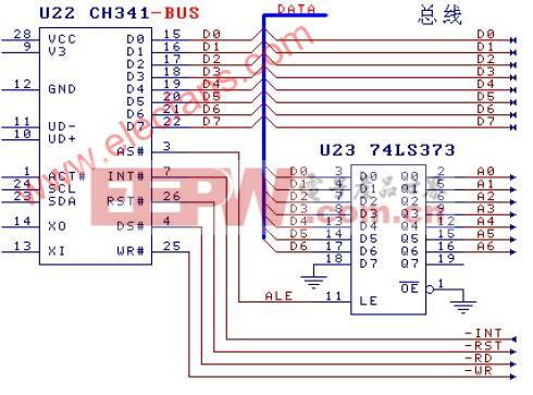 实现CH341与BUS并口应用电路介绍