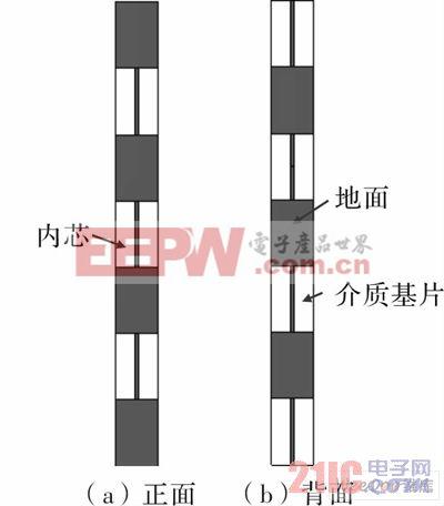 微带交叉阵子天线示意图