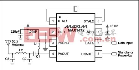 图1. MAX1472应用电路