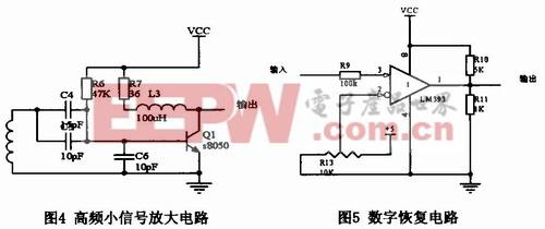 图4属于高频小信号放大器,S8050的fT典型值为200MHz,则电流放大图片